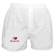 """I Love Route 66"" Boxer Shorts"