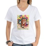 Blame it on the Dog Women's V-Neck T-Shirt