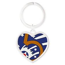 5th_usaaf - cropped Heart Keychain