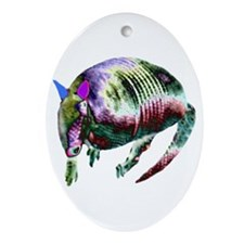 NEON ARMADILLO Oval Ornament
