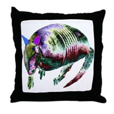 NEON ARMADILLO Throw Pillow