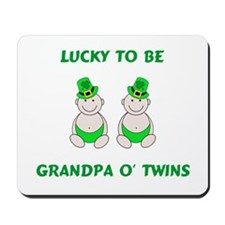 Grandpa O' Twins Mousepad
