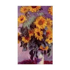 Sunflowers by Claude Monet r3 Decal