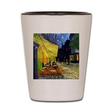 Cafe Terrace at Night r2 Shot Glass