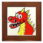 Happy Dragon Framed Tile