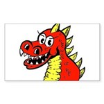 Happy Dragon Rectangle Sticker