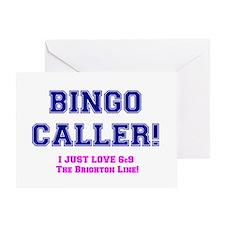 BINGO CALLER - 69 THE BRIGHTON LINE Greeting Card
