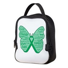 Liver Disease Awareness Neoprene Lunch Bag
