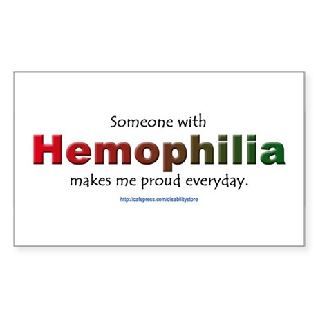 Hemophilia Pride Rectangle Sticker