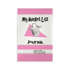 Ladies Bucket List Journal Cover Rectangle Magnet