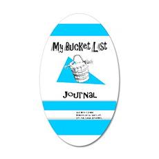 Mens Bucket List Journal Cov 35x21 Oval Wall Decal