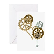 steampunk loveblk Greeting Card
