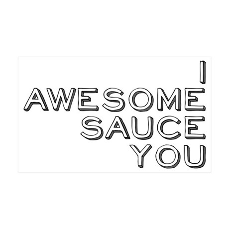 awesomesauce 35x21 Wall Decal