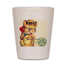 kitten yarn Shot Glass