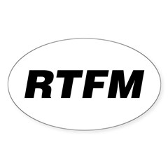 RTFM Oval Sticker