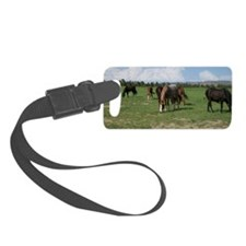Mustangs in Field Small Luggage Tag