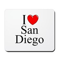 """I Love San Diego"" Mousepad"