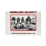 Homeland Security Native Rectangle Magnet