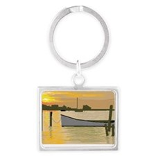 Sunset  on Silver Lake Landscape Keychain