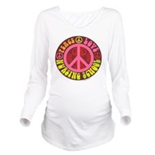 Peace, Love, Nursing Long Sleeve Maternity T-Shirt