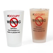 whining Drinking Glass