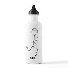 running man1.gif Water Bottle