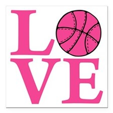 "melon2, Basketball LOVE Square Car Magnet 3"" x 3"""