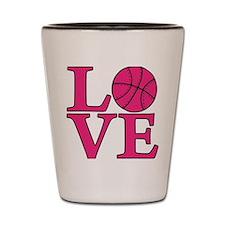 melon, Basketball LOVE Shot Glass