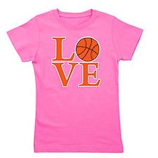 orange2, Basketball LOVE Girl's Tee
