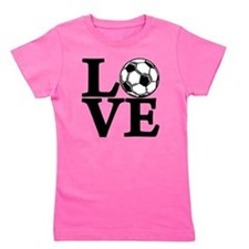 black, Soccer LOVE Girl's Tee