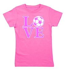 pink2, Soccer LOVE Girl's Tee