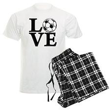 black, Soccer LOVE Pajamas