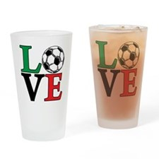 mexico, Soccer LOVE Drinking Glass