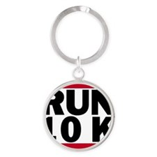 Run 10K_light Round Keychain