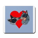 Australian Cattle Dog Kiss Mousepad
