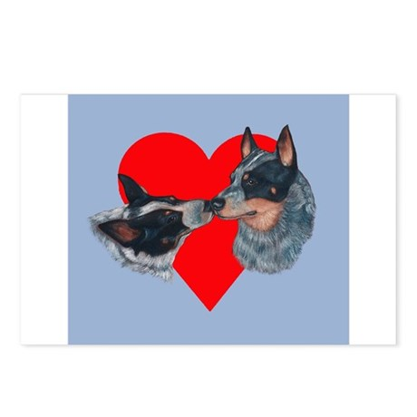 Australian Cattle Dog Kiss Postcards (Package of 8
