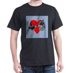 Australian Cattle Dog Kiss Dark T-Shirt