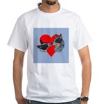 Australian Cattle Dog Kiss White T-Shirt
