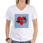 Australian Cattle Dog Kiss Women's V-Neck T-Shirt