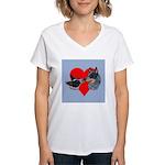 Australian Cattle Dog Kiss Women's V-Neck T-Shirt