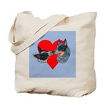Australian Cattle Dog Kiss Tote Bag