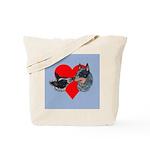 Australian Cattle Dog Kiss Tote Bag
