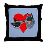 Australian Cattle Dog Kiss Throw Pillow
