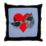 Australian Cattle Dog Kiss Throw Pillow