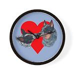 Australian Cattle Dog Kiss Wall Clock