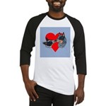 Australian Cattle Dog Kiss Baseball Jersey