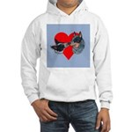 Australian Cattle Dog Kiss Hooded Sweatshirt