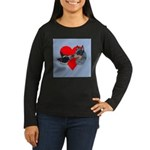 Australian Cattle Dog Kiss Women's Long Sleeve Dar