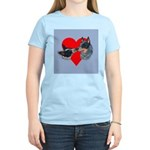 Australian Cattle Dog Kiss Women's Light T-Shirt