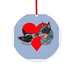 Australian Cattle Dog Kiss Ornament (Round)